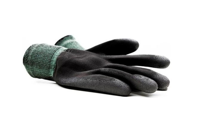 Polyester gloves, polyurethane coated